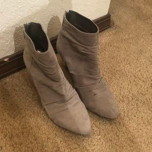 Tan Slouchy Ankle Booties